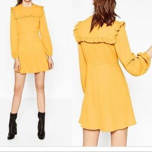 Zara Mustard short dress